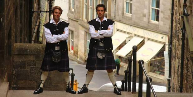Alex and Marko Ayling in Edinburgh.