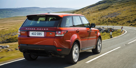 The Range Rover Sport supercharged V8 petrol.