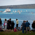 Crowds gather at North Head to watch the Tall Ships leave Auckland on Labour Day Monday. Photo / Natalie Slade