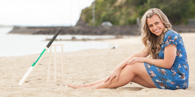 Television and radio host Laura McGoldrick at Mission Bay beach, Auckland. Photo / Michelle Hyslop