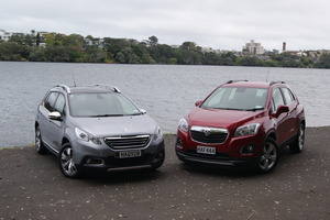 The Peugeot 2008 (left) takes on Holden's Trax. Pictures/ David Linklater