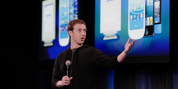 Mark Zuckerberg, chief executive of Facebook, speaks during an event in Menlo Park, California.