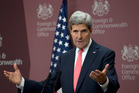 U.S. Secretary of State John Kerry speaks to the media at the British Foreign Office in London. Photo / AP