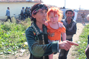 Sasha Ruseva, 35, Maria's mother, said that she had given up her child to a woman who approached her in the street. Photo / AP