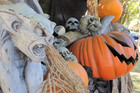 A Halloween display greets visitors to Philipsburg Manor in Sleepy Hollow, New York. Photo / AP