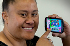 Fuarosa Taito-Alo says she uses her phone for games rather than talking or texting. Photo / Brett Phibbs