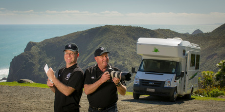 Reporter David Fisher and photographer Mark Mitchell. Photo / Ted Baghurst.