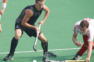 Blair Hilton scored for the Black Sticks as they slumped to a 3-1 defeat against Australia in Stratford today. Photo / Getty