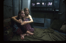 A scene from the film that made the panic room famous.