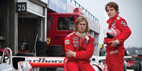Chris Hemsworth and Daniel Bruhl in Ron Howard's 'RUSH'.