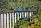 As the Northern Explorer crosses the Hapuawhenua Viaduct vertigo sufferers may want to keep their eyes on their magazines.