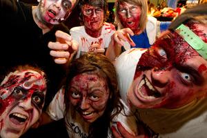 Before my very eyes were dozens of zombies walking the street mall, writes Darby. Photo / Brett Phibbs
