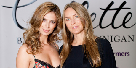 Grace Owen and Collette Dinnigan at her lingerie launch in NZ.Photo / Neville Marriner