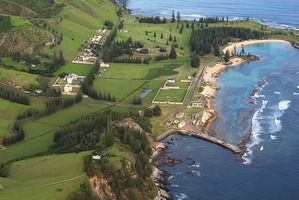 Aerial view of Kingston, Norfolk Island.