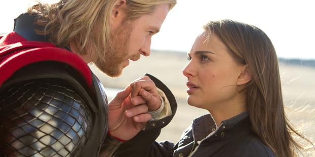Chris Hemsworth and Natalie Portman, stars of 'Thor: The Dark World'.