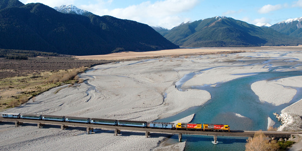 The TranzAlpine Trans Scenic Express. Photo / Supplied