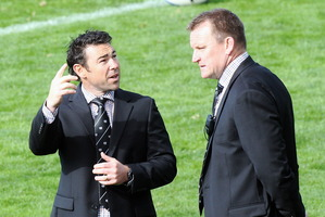 Magpies coach Craig Philpott (right) and his assistant, Danny Lee.
