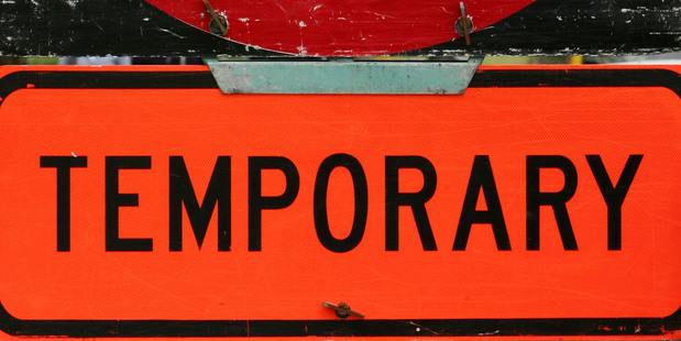 Road works sign. Photo / APN