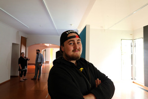 Ryan Donaldson checks out the soon to be created Youth Space after being given a grant from the ASB communities trust.