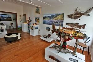 ART SPACE: The new interior of Artmosphere Gallery, Waipawa. PHOTO/HELMUT HIRLER