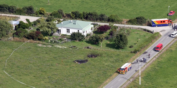 Loading The scene of the Carterton hot air balloon tragedy. Photo / Wairarapa Times-Age