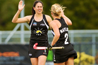 It was never likely to be close and it certainly wasn't as the women's Black Sticks hammered Samoa 26-0 in hockey's Oceania Cup in Stratford this afternoon. Photo / Daniel Carson.