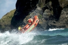 Piha Rescue: Why setting foot in the water is a bad idea.