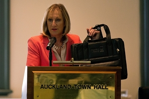 New councillor Linda Cooper has returned her $142 satchel, which she said was a waste of money. Photo / Dean Purcell