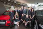Everybody on staff can cover for everyone else on the winning team at Giltrap Audi, Auckland. Photo / Ted Baghurst
