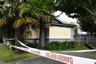 A family house in Te Puke was left in ruins after a fire on Saturday morning. Photo / George Novak