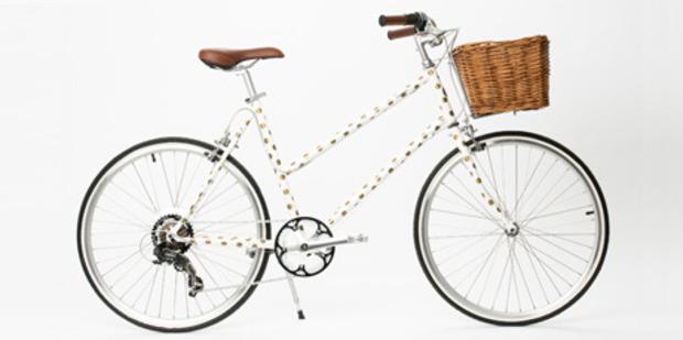 Karen Walker's limited edition bike, designed in partnership with Tokyo Bikes.
