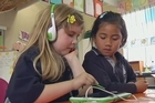 Students at Colwill School in Massey, West Auckland, were part of a digital trial to use LeapPad Ultra education tablets in the classroom. Video / Murray Job