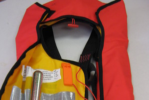 When out on the water always wear a lifejacket.