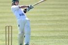 PULL SHOT: Central Cricket Club could make it three wins in a row tomorrow in the Bay Cup. Pictured is Central player Kyle Blanchard. PHOTO/BEN FRASER 061013BF3
