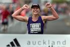 Kirsten Molloy from Australia, winning the Women's Auckland Marathon. Photo / Brett Phibbs