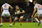 Paul Gallen attacks the England defence at Millennium Stadium. Picture / Getty Images