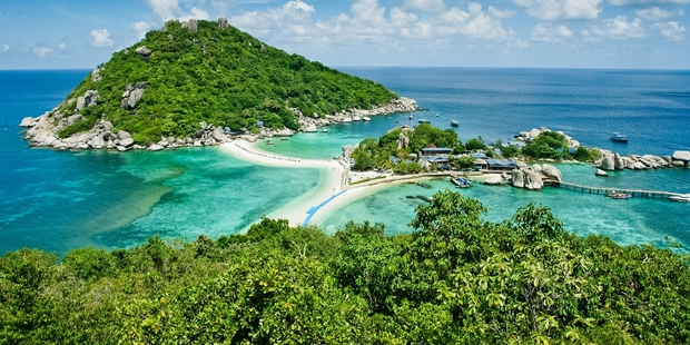 Nang Yuan Island, a day trip from Koh Samui, is home to some of Thailand's prettiest beaches. Photo / Getty Images