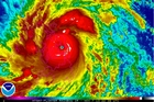 A satellite image from the US National Oceanic and Atmospheric Administration shows Typhoon Haiyan over the Philippines. Photo / AP
