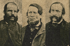 From left: The Burgess Gnag - Burgess, Sullivan, Thomas Kelly and William Levy. (Alexander Turnbull Library)