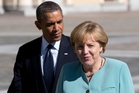 Chancellor Angela Merkel is angry at Barack Obama, but Germany has many reasons to be thanking the United States. Photo / AP