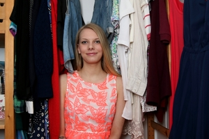 Holly Chase is wearing only second-hand clothing for a year to support sustainable fashion. Photo / Jason Oxenham