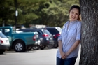 Bevan Chuang, at the carpark in Mission Bay where she met mayoral candidate John Palino. Photo / Natalie Slade