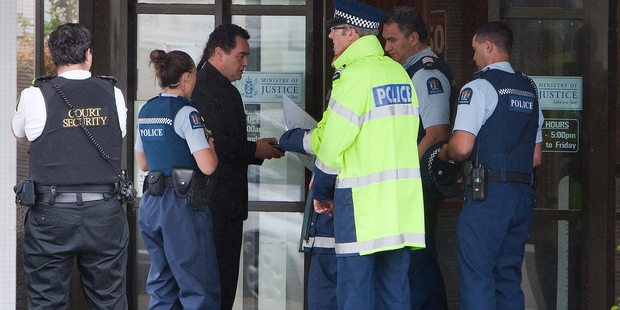 The Rotorua Courthouse was evacuated yesterday after a bomb threat. Photo / Ben Fraser