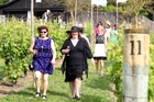 People dressed up for a day of Mint Juleps and The Melbourne Cup at Black Barn Vineyards in Havelock North. Photo / Duncan Brown