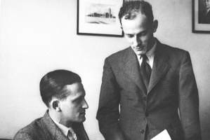 In 1934 Woolf Fisher (left) and Maurice Paykel founded one of New Zealand's best known brands. (NZ Herald Archive)