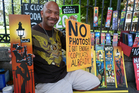 A New Orleans artist sells his wares by Jackson Square. Photo / Megan Singleton