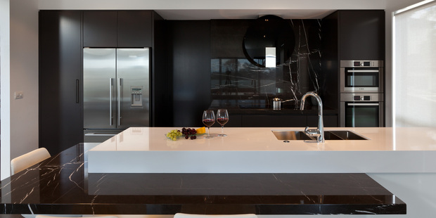 The work triangle in action in a kitchen designed by Linda Christensen. Photo / Linda Christensen / Kitchens By Design