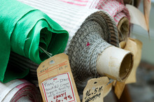 Fabrics await new buyers. Photo / Babiche Martens.