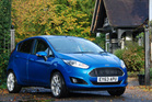The Ford Fiesta EcoBoost was testing in the UK (above) and has the 1-litre EcoBoost engine (below). pictures / Jacqui Madelin, supplied