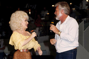 Dolly Parton with Kenny Rogers, with whom she had  a hit record in 1983, 'Islands in the Stream'. Photo / AP